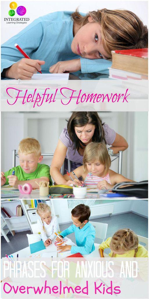 15 Important Phrases You Should Say to Avoid Homework Meltdowns with Your Anxious Child   ilslearningcorner.com #backtoschool #homework