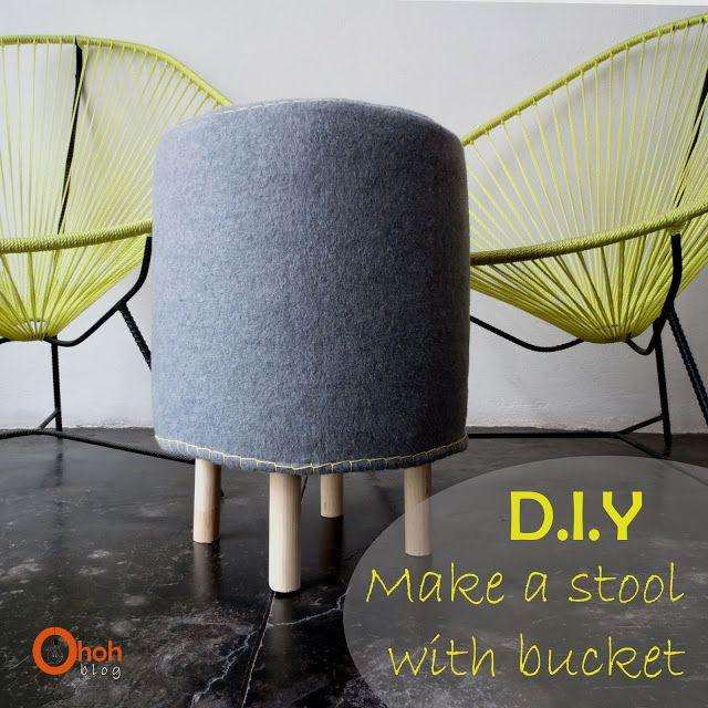 Ohoh Blog - diy and crafts: DIY Make a stool with bucket #2