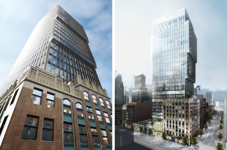 Green Skyscraper to Be Built on Top of Vancouver's Historic Harry Gugger