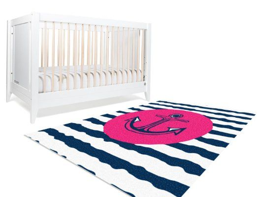 Amazon.com : Nautical Nursery Decor, Pink Nautical Decor, Pink and Navy Nursery Decor, Girls Nursery Decor, Anchor Nursery Decor, Girls Bedroom Decor Gifts : Baby