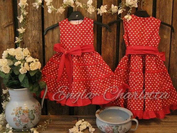 Hey, I found this really awesome Etsy listing at https://www.etsy.com/listing/95010173/girls-red-polka-dot-dress-girls