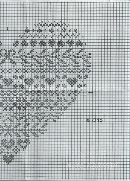 cuore cuore punto croce