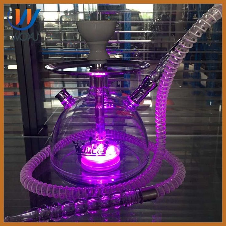 <h1>High quality acrylic material water pipes glass teapot bottle hookah kit LED</h1>