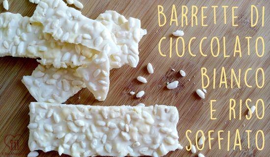 Il Bel Mangiare: Barrette di cioccolato bianco e riso soffiato