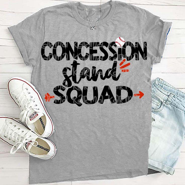 Baseball Mom, baseball sister, SVG, concession stand squad