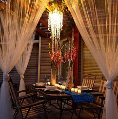 Beautiful Outdoor Area On a $100 Budget! :: HometalkDecor, On A Budget, Outdoor Living, 100 Budget, Lights Dinner, Patios Ideas, Porches, Beautiful Outdoor, Outdoor Areas