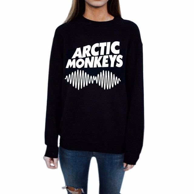 Kiwi Women Spring Arctic Monkeys Casual Printed Hipster Music Punk Style Hoodies Moletom Harajuku Long Sleeve Sweatshirts