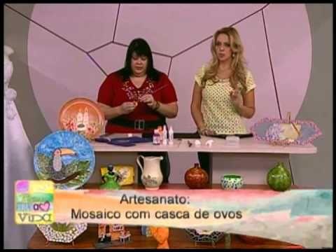 Dica de Artesanato - Aula de mosaic utilizando cascas de ovos - YouTube