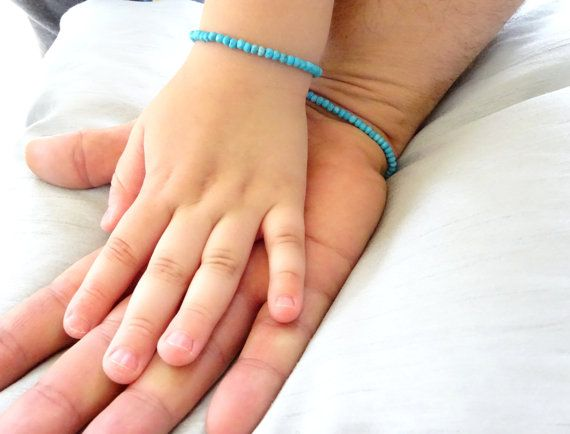Father and son Turquoise bracelet Kids Jewelry by MasculineWear