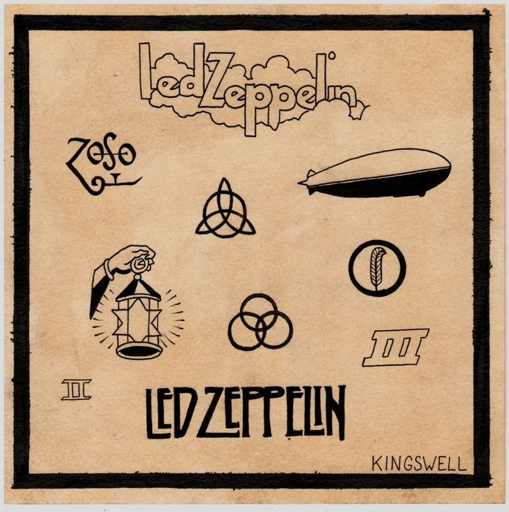 Led Zeppelin tattoo - vintage London