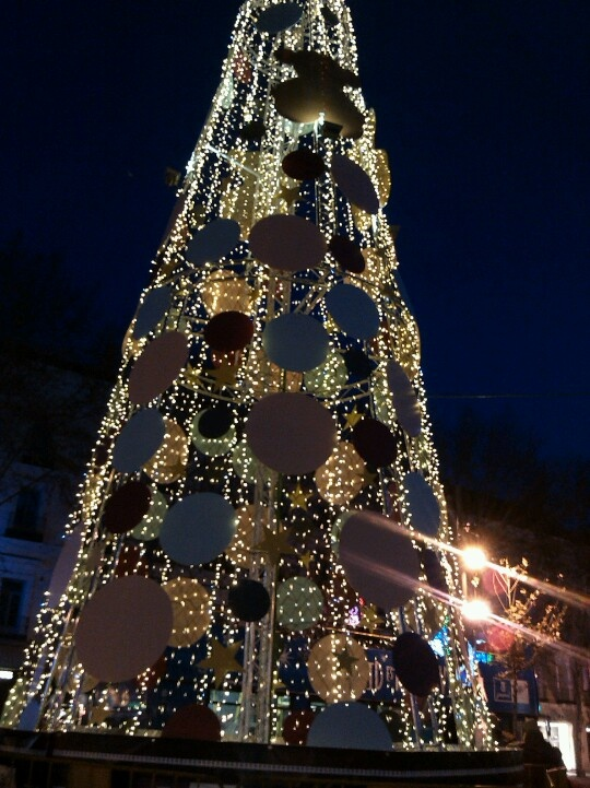 Madrid, árbol de Navidad