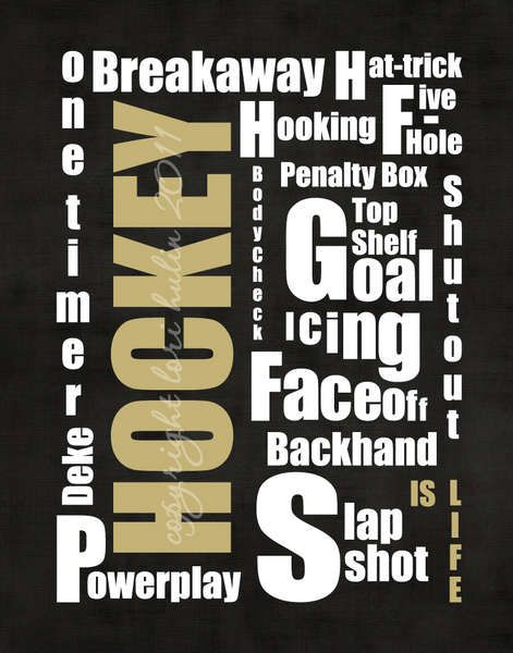 Digital: Hockey Typography