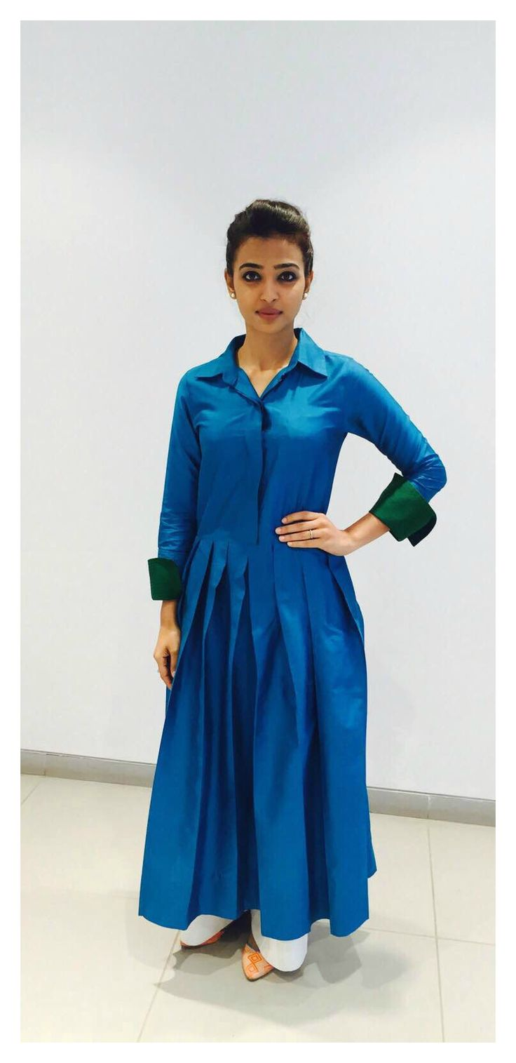Radhika Apte in payalkhandwala Silk Pleated Kurta Dress and Pyjama