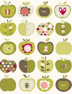 Angela Nickeas Illustration Apple stamp - October 2011Kitchens Curtains, Kitchens Colors, Studios Design, Nickea Illustration, Hiccup Studios, Sampler Quilt, Apples Pattern, Phones Wallpapers, Angela Nickea