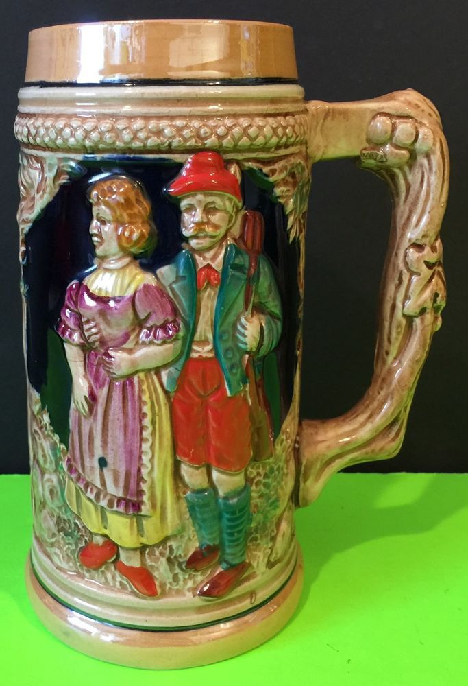 Vintage Collectable Japan German Beer Stein Man Woman Castle Ceramic   | eBay