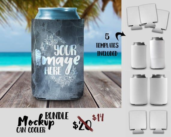 Free Can Cooler Mockup Template Drink Holder Can Psd Free Psd Mockups Smart Object And Templ Free Packaging Mockup Mockup Template Free Psd Mockups Templates