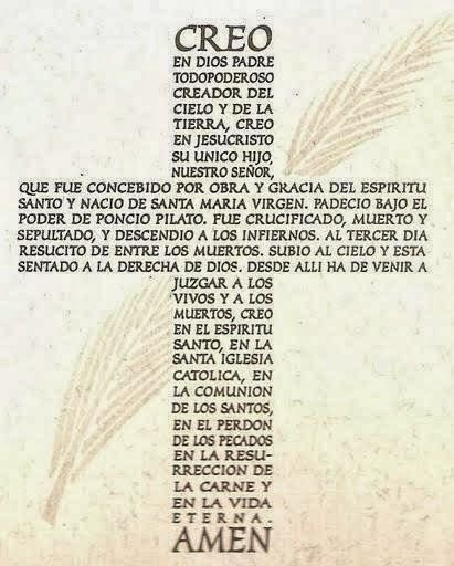 The Apostles Creed in Spanish +
