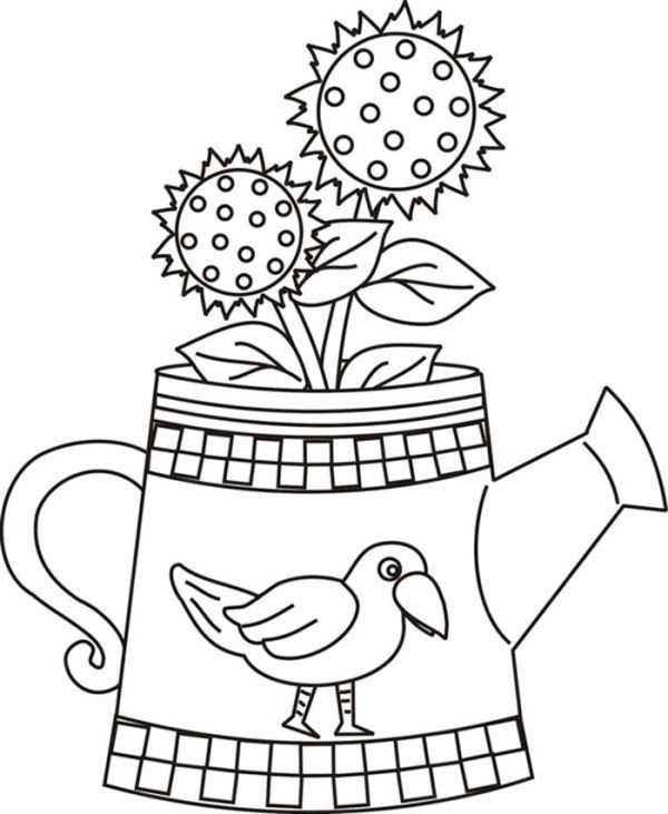 Free Sunflower Coloring Pages For Kids Free Coloring Sheets Sunflower Coloring Pages Butterfly Coloring Page Coloring Pages For Kids
