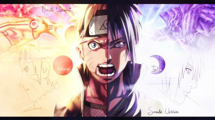 Fonds d'écran Manga Naruto Naruto vs sasuke final battle