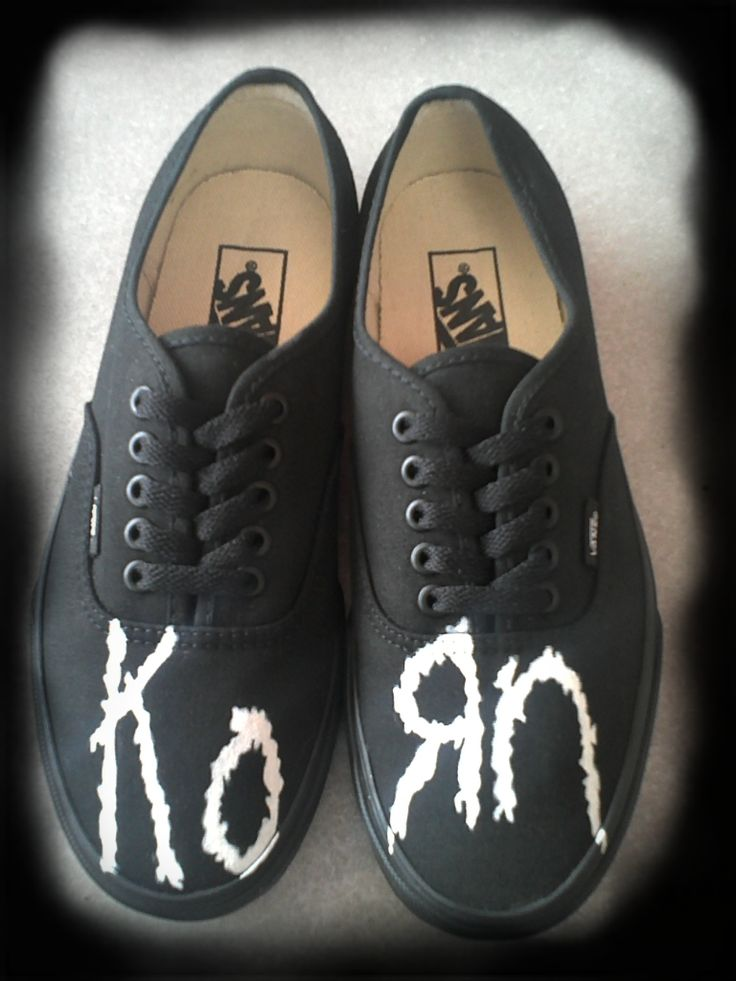 boys from korn | KoRn logo vans by piercedkornboy