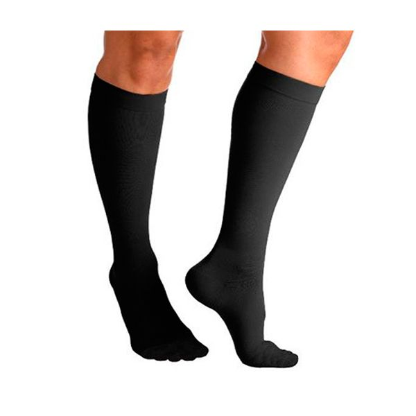 As meias elásticas pretas de compressão Classe II até ao joelho vão ajuda-lo a melhorar a condição das suas pernas e oferecem-lhe conforto ao longo do dia.