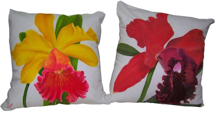 Cojines pintados a mano. Pillows