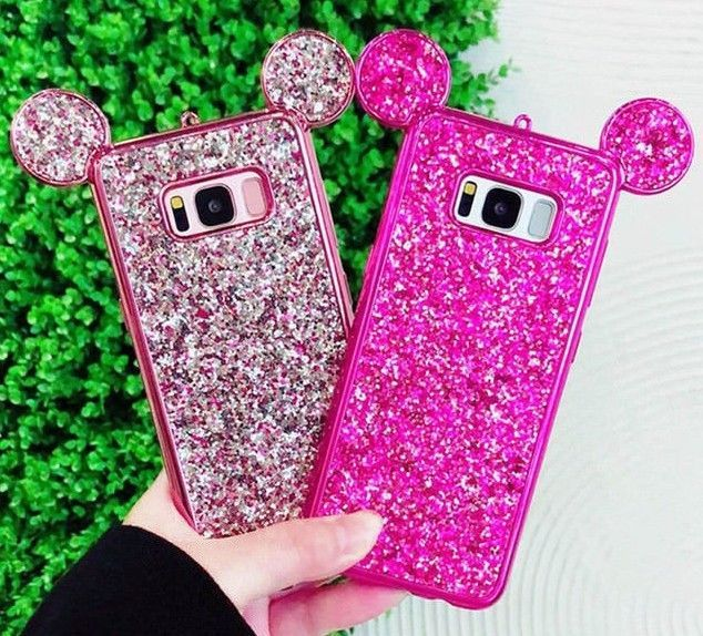 Estuche Orejas Ratón Diamantes Protector Mouse Cover Samsung Galaxy S8 S8 Plus Unbrandedgeneric Fundas Para Iphone Apple Iphone Orejas De Mickey Mouse