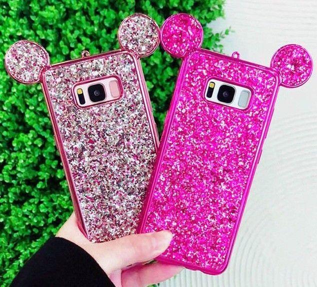 Estuche Orejas Ratón Diamantes Protector Mouse Cover Samsung Galaxy S8 S8 Plus Unbrandedgeneric Fundas Para Iphone Apple Iphone Orejas De Mickey Mouse