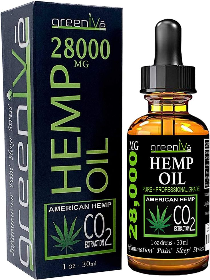 GreenIVe 28,000mg Hemp Oil AntiInflammatory Vegan Omegas