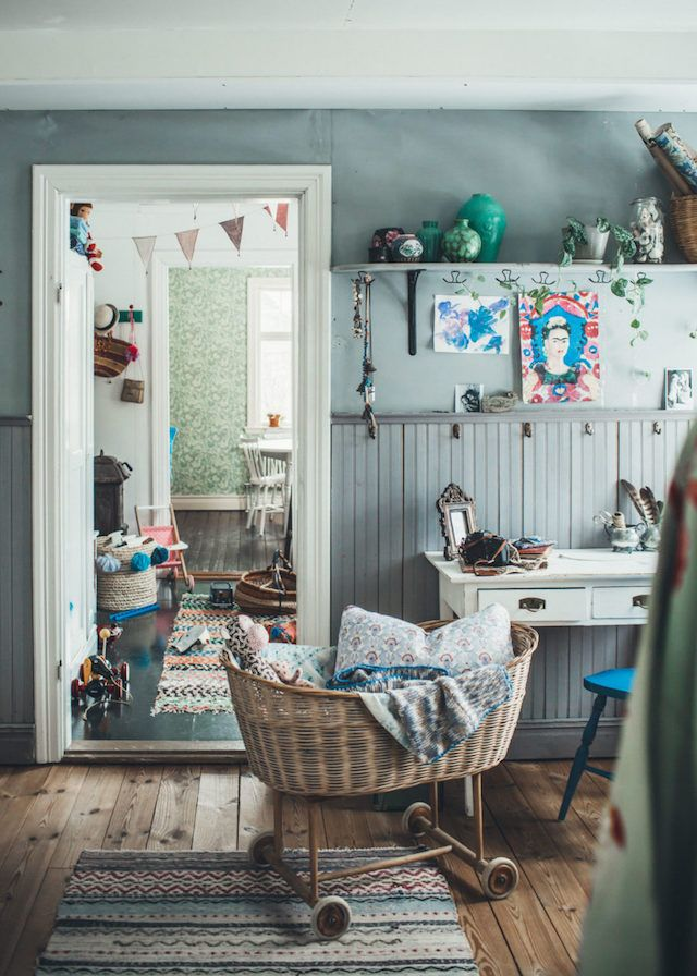 A vintage inspired Swedish home full of soul
