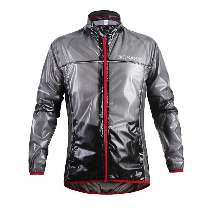 Wosawe Al aire libre Transpirable Lluvia chaqueta de manga larga de bicicletas Ciclismo Chubasquero para Bici Útil para montar Bici al aire libre.