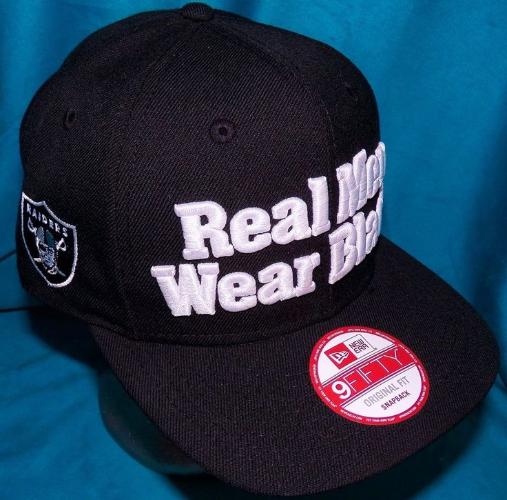 New Era 9Fifty Straight Outta Compton Real Men Wear Black Oakland Raiders Hat #NewEra #BaseballCap
