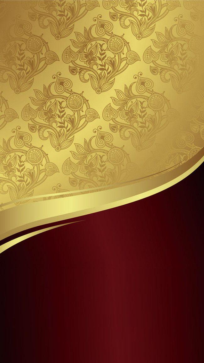 Golden Red Stitching H5 Background Poster Background Design Gold Wallpaper Phone Business Card Design Black