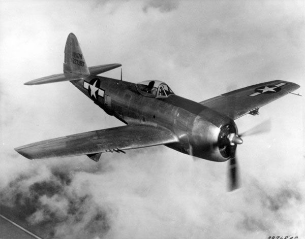 The final version, the P-47N, was built primarily for use against the Japanese in the Pacific theater. Shown is a XP-47N fitted with a bubble canopy.
