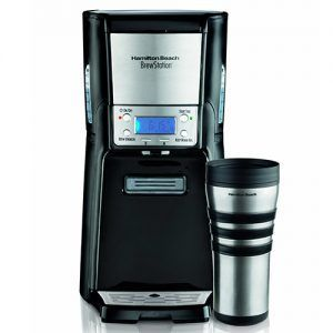 Talk about customization and here comes the Hamilton Beach BrewStation. With this coffeemaker you can brew the way you want to: regular, bold, iced or in small batches. Serving through this coffeemaker is as easy as it gets thanks to its ergonomic design.