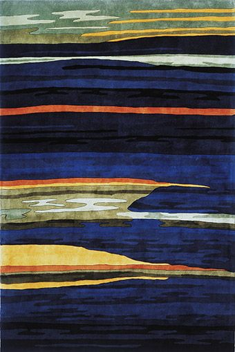 New Wave Ocean View - Navy Rug from the Modern Masters 1 collection at Modern Area Rugs