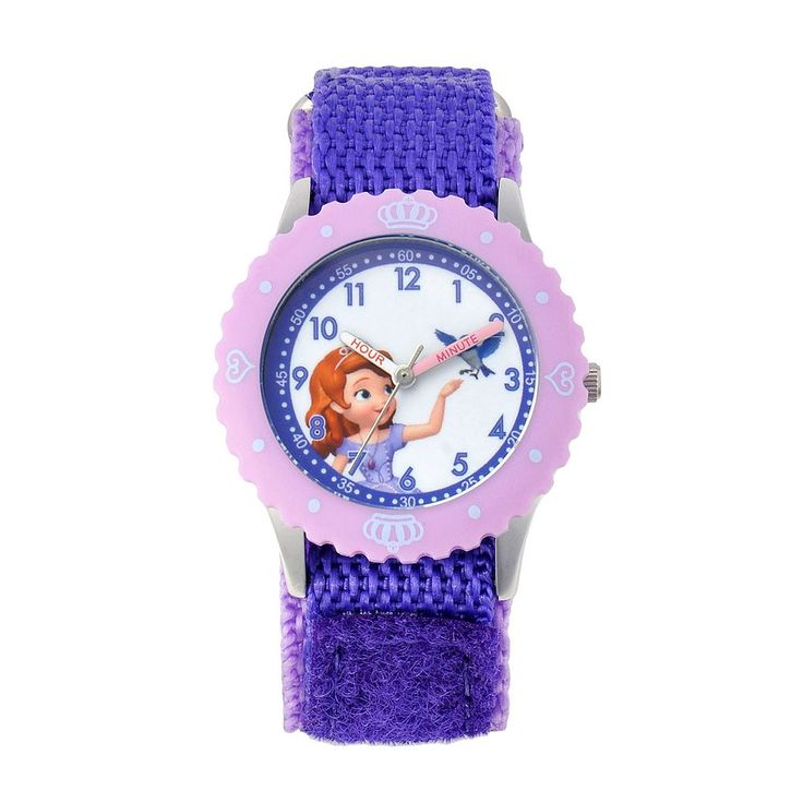 Disney's Sofia the First & Mia Kids' Time Teacher Watch, Adult Unisex, Purple