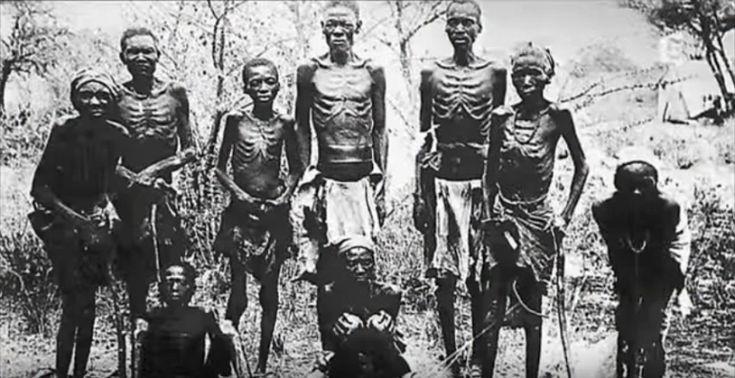 Six camps de concentrations furent construits en 1905 par l'Allemagne pour exterminer les trois-quarts de la population héréro et la moitié de la population nama