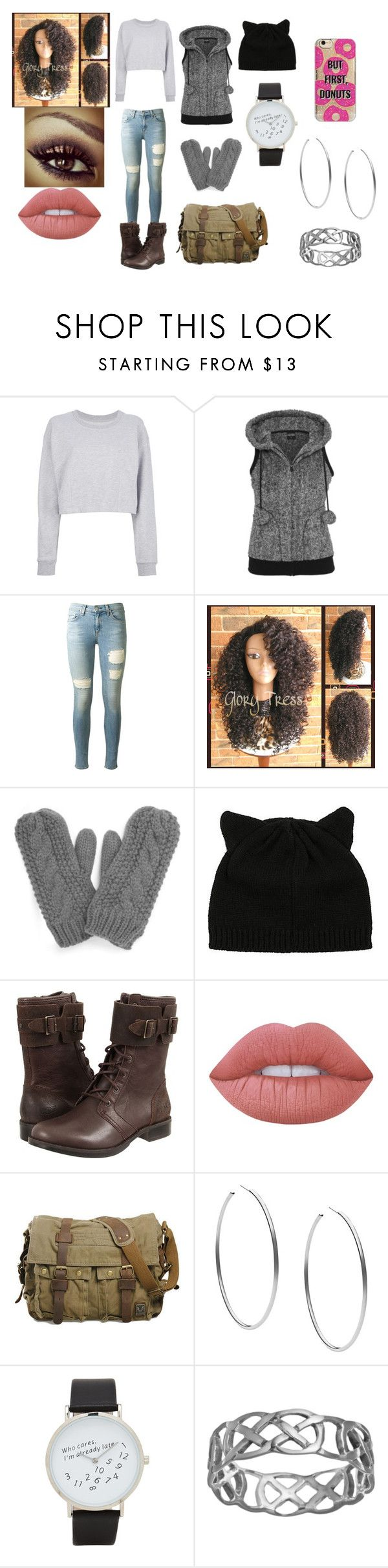 """""""Rosalie"""" by shady-soilder ❤ liked on Polyvore featuring Maison Margiela, rag & bone, French Connection, UGG Australia, Lime Crime, Michael Kors, ALDO and Agent 18"""
