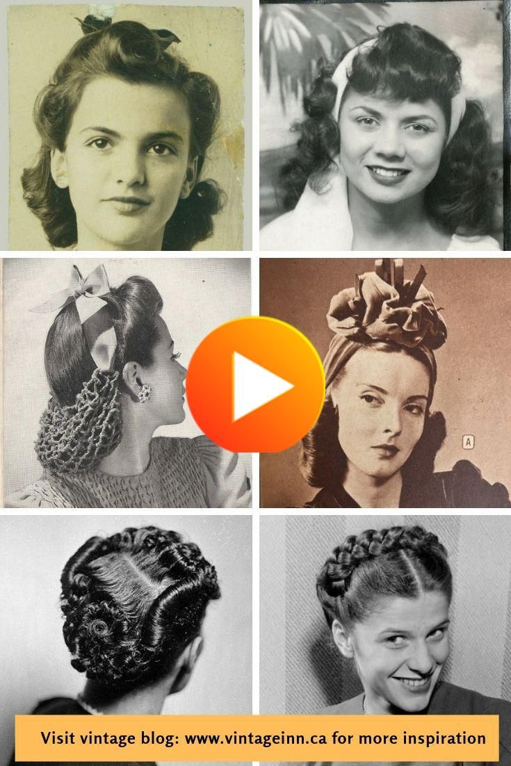 1940s Real Life Women S Hairstyles 1940s Hairstyles Vintage Hairstyles Hair Styles