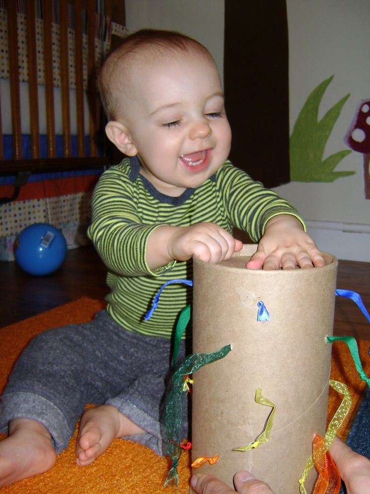 Ribbon Pull. My little baby love likes strings and ribbon this is a perfect game!