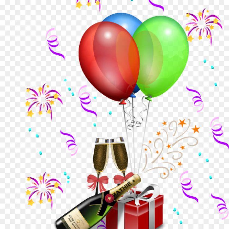 Clip Art Birthday Party Feestversiering Balloon Part Black