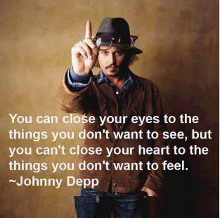 Johnny Depp is wise