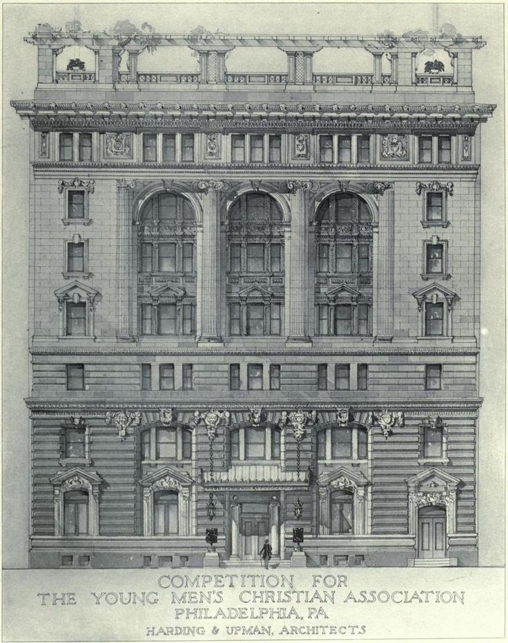 Competition for the YMCA building, Philadelphia