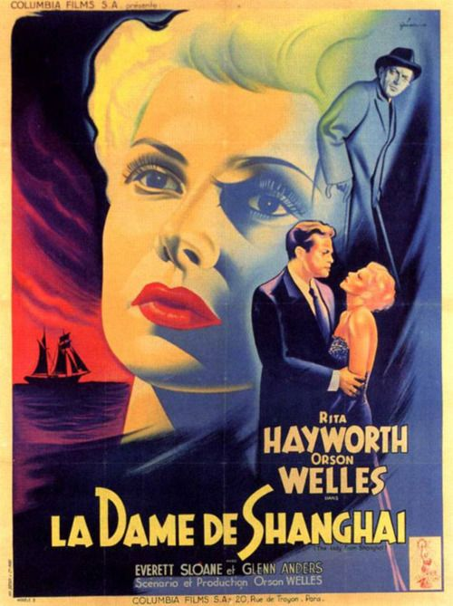 """MP554. """"The Lady from Shanghai"""" French Movie Poster by Boris Grinsson (Orson Welles 1947) / #Movieposter"""