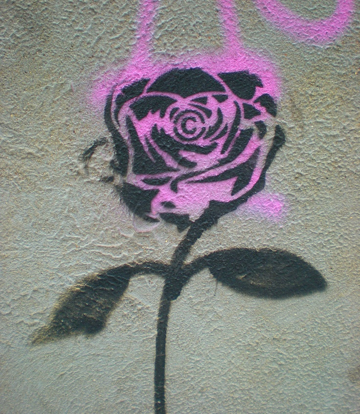 Can also go on my 'flowers' board. East London street art