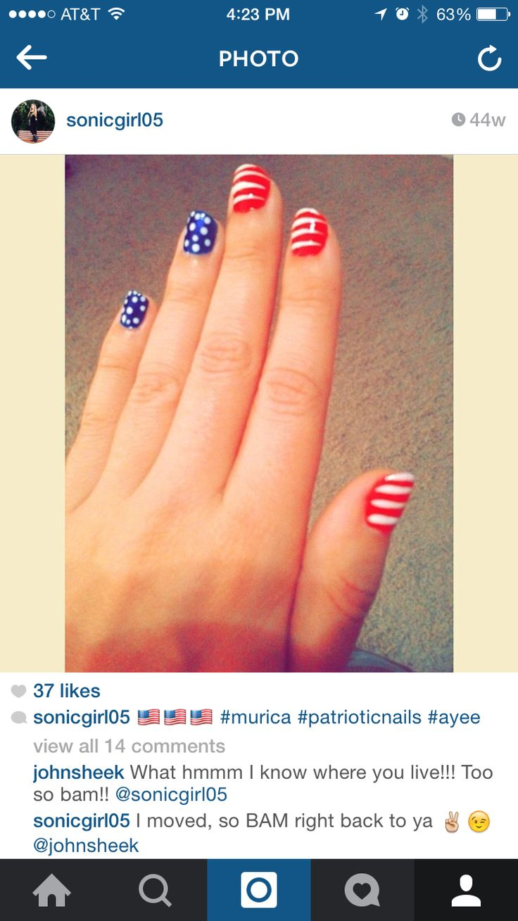 Insta-patriotism hahah. Just in time for the 4th