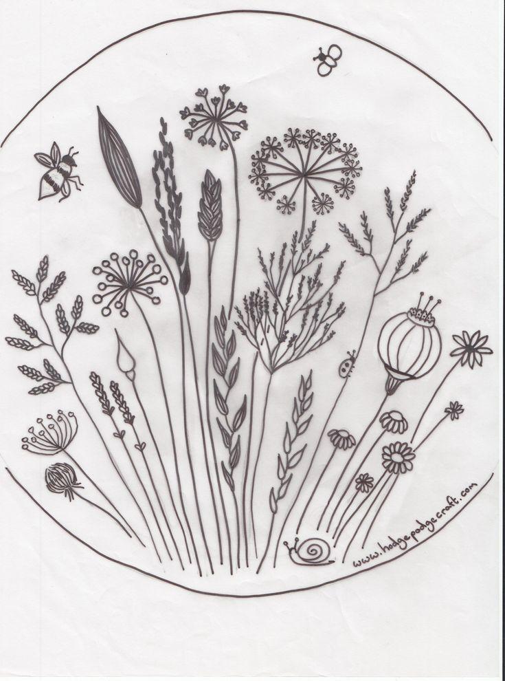 BEE   http://hodgepodgecraft.com/wp-content/uploads/2015/07/meadow-flower-pattern.jpg