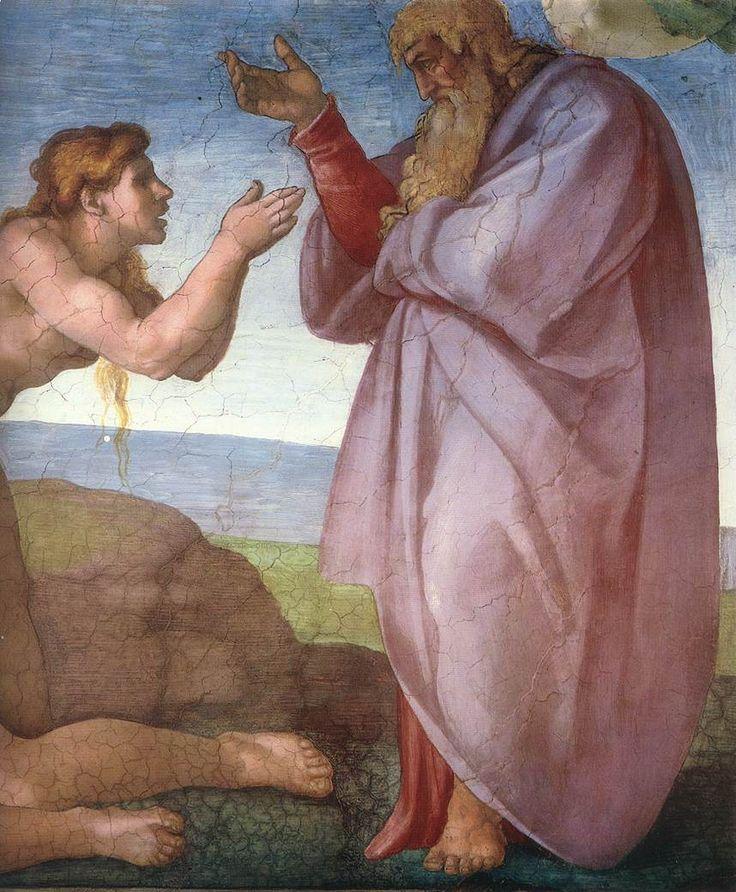 Сотворение Евы,фрагмент