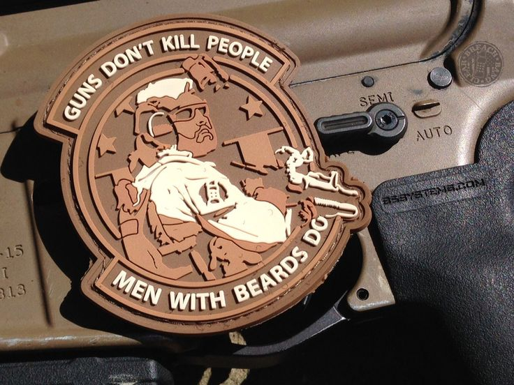 MEN WITH BEARDS PATCH – Breach Bang Clear